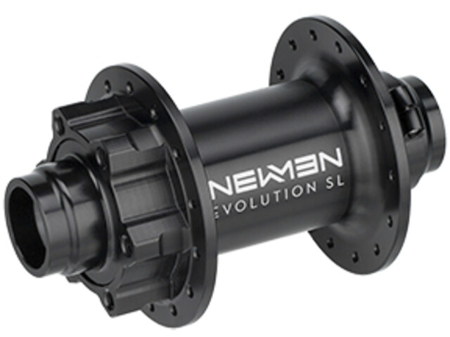 NEWMEN MTB SL Buje delantero 20x110mm Boost J-Bend 6-Tornillos, black anodised/grey